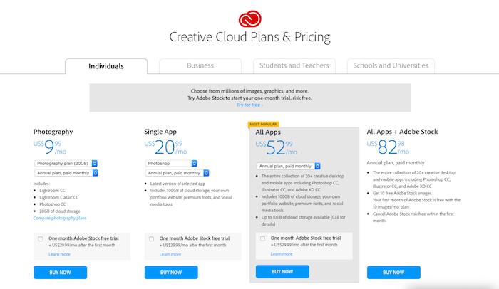Adobe Creative Cloud GBB Packaging